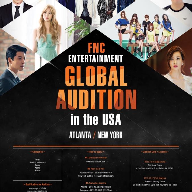 [구인] FNC엔터테인먼트 미주 글로벌 오디션 서포터즈를 모집합니다. - 구인·구직 - 조지아주닷컴 : Thumbnail - 675x675 커버이미지