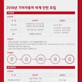 2016년 기아자동차 하계 인턴 모집 - 구인·구직 - 조지아주닷컴 : Thumbnail - 340x340 커버이미지